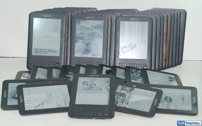"""AS IS Kindle Keyboard 3G Wi-Fi 6"""" eReader 45X Lot NO CHARGERS READ DESCRIPTION"""